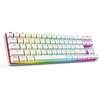 DREVO Calibur 71 Key RGB Backlit Bluetooth 4.0 Mechanical Keyboard Wireles Red Switch Sliver White US Layout