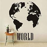 Cmhai Cmhai 58 * 71 Cm Global Carte Du Monde Atlas Vinyle Sticker Vintage Amovible Pvc Mur Bricolage...