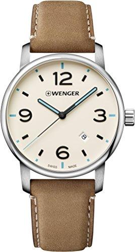 Wenger Reloj Analogico para Unisex de Cuarzo con Correa en Cuero 01.1741.120