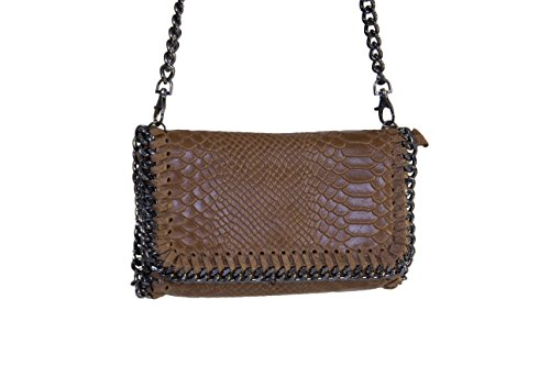Pochette effetto Pitone Donna Morgan Visioli Fashion Marrone