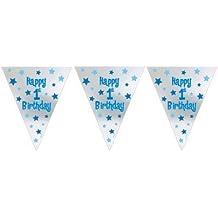Primo compleanno del ragazzo Lamina Gagliardetti Striscione