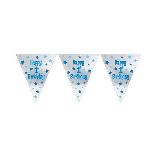 Amscan International Guirlande fanions pour premier anniversaire de garçon 0048419588870