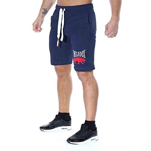 SMILODOX Shorts Herren | Kurze Hosen für Sport Fitness Gym Training & Freizeit | Jogginghose - Freizeithose - Trainingshose - Sweatpants Jogger - Sporthose Kurz, Farbe:Blau, Größe:S (Leinen Für Tops Hose)