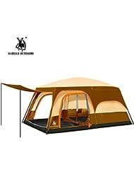 moyun Camping tiendas de campaña impermeable para dos pisos campo dos habitaciones y un dormitorio senderismo tienda de campaña familiar 5–8personas