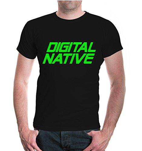 buXsbaum® T-Shirt Digital Native Black-Neongreen