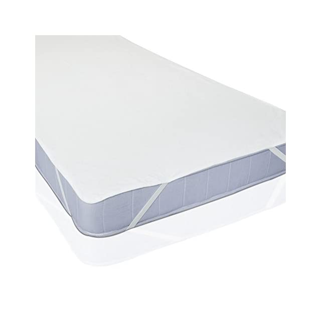 Protège Matelas Imperméable pour Lit de Blanc (90 cm x 200 cm)