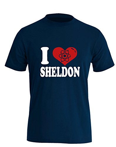 I Love Sheldon - Herren T Shirt Navy / Bunt