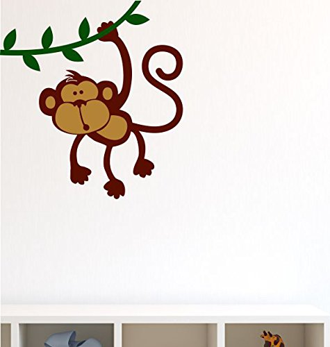 Asian Paints Wall-Ons Hanging Monkey  Wall Sticker (PVC Vinyl, 0.01 cm x 30.48 cm x 50.8 cm)