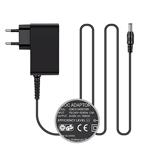 TUV HKY 24V Trafo Steckernetzteil Netzteil Ladegerät AC DC Adapter für Radiowecker, LED-Strip Streifen, Speedport, Lichtleisten, USB-Hub, Switch, Router Transformator EU Stecker