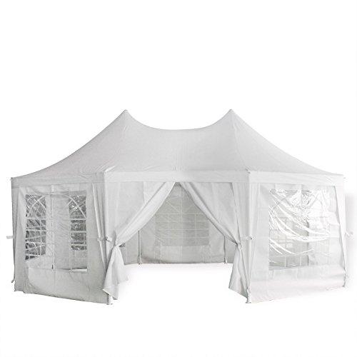 Pavillon - Orient - 4,5 x 6,1 Meter - Dachteile aus wasserdichtem Polyester PVC - Seitenteile aus winddichtem Polyester