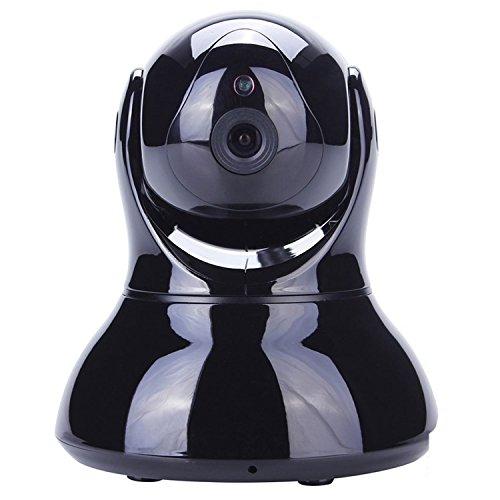 SEGURO® HD 1280 x 720P WIFI videosorveglianza Ip Cam senza fili WIFI Ip Camera videosorveglianza Videocamera di Sorveglianza Visore notturno Day&Night, Funzionalità Range Extender IR-CUT Motorizzata con Movimenti Pan/Tilt/Zoom, Rilevatore di Movimenti e Suoni (Nero)