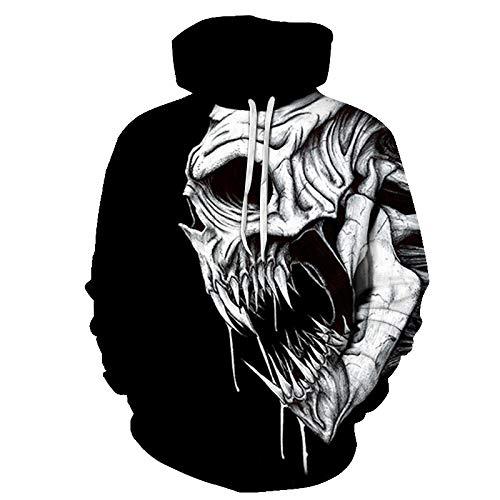 YHXY Jogginghose Herren 3D gedruckte Schwarze Flamme Paar Pullover Pullover mit Kapuze Herren Sweatshirt Langarm Sportbekleidung XL