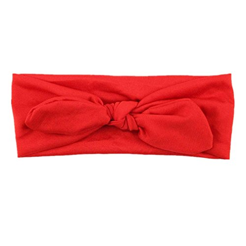 Hair Accessories, Kolylong® Femmes Yoga éLastique Bow Hairband Turban Noué Lapin Band Cheveux Bandeau (Rouge)