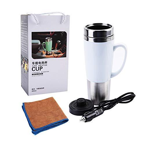 Milch-kessel (Fdit 12V elektrischer wasserisolierter Auto Becher Reise Heizungs Schalen Kessel für heißen Kaffee Milch Tee MEHRWEG VERPACKUNG(# 2))