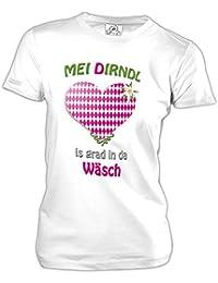 MEI DIRNDL IS GRAD IN DA WÄSCH - OKTOBERFEST - WOMEN T-SHIRT by Jayess Gr. XS bis 3XL