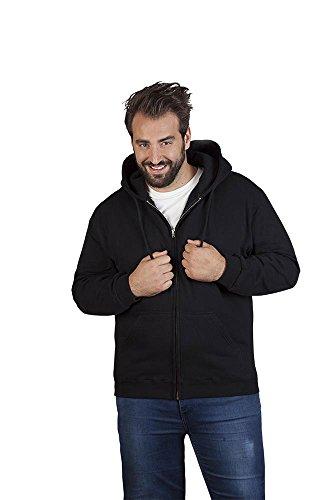 Baumwoll Zip Hoodie Jacke Plus Size Herren, 4XL, Schwarz