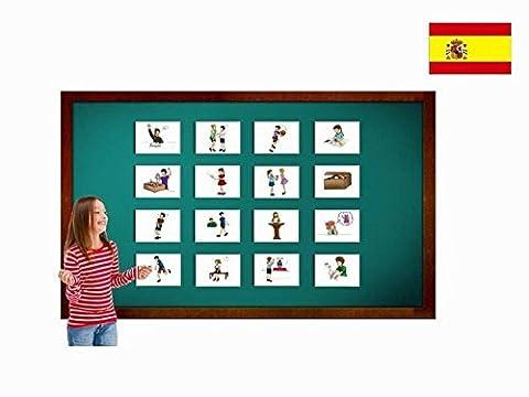 Bildkarten zur Sprachförderung in Spanisch - Verben - Tarjetas de vocabulario - Verbos 3