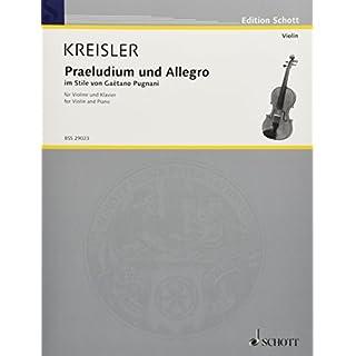 Praeludium & Allegro in Style of Gaetano Pugnani for Violin and Piano