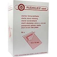 RUDAVLIES-steril Verbandpflaster 10x12 cm 50 St preisvergleich bei billige-tabletten.eu