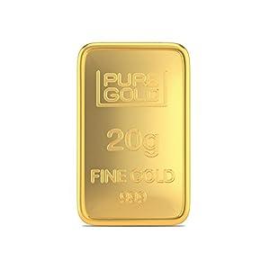 Joyalukkas Assayer Certified 20 gm, 24k (999) Yellow Gold Precious Bar