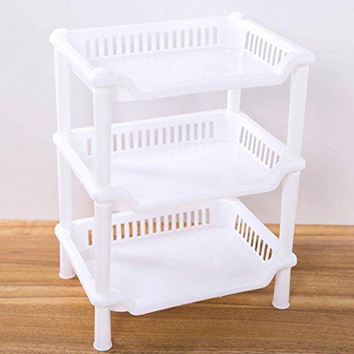 3Etagen Kunststoff Storage Rack Holder, yoyoug 3Etagen Kunststoff Organizer Badezimmer Caddy Regal Küche Storage Rack Holder, plastik, C, Einheitsgröße -