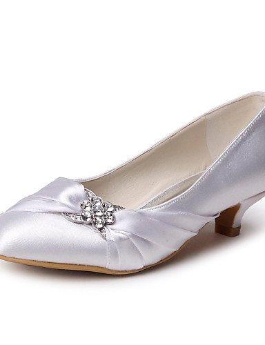 ShangYi Schuh Damenschuhe - High Heels - Hochzeit - Satin - Kitten Heel-Absatz - Absätze / Geschlossene Zehe -Schwarz / Blau / Gelb / Rosa / Lila / Rot Gold