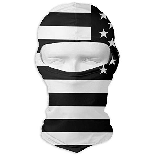 Bikofhd Halstuch Sonnencreme Hüte Ski Maske Retro Schwarz Weiß Amerikanische Flagge...