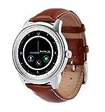 Intelligente Uhr, Wasserdichter Eignungs-Verfolger-Bluetooth-Telefon-Kamerad Voller HD runder Schirm für IOS Android Smartphone (Schwarzes)