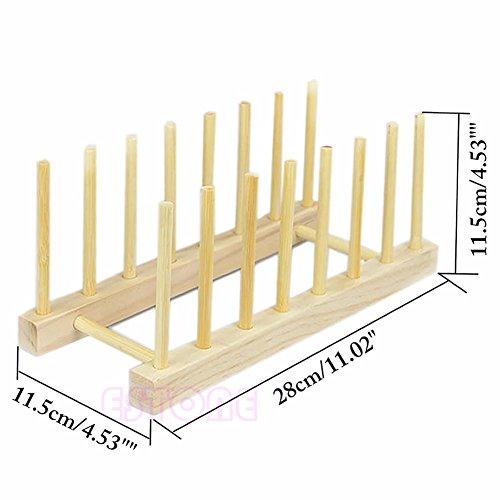Premier Ecke Glas Regal (Hölzerne Teller-Zahnstange von Zweckmäßigem - 7 Abschnitte, Ein-Teller-Halter-Standplatz - über dem Wannen-kompakten Küche-Zusatz)