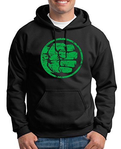 TLM Hulk Fist Bump Kapuzenpullover Herren XXXL (Top Superhelden Frauen Ten)