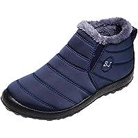 GiveKoiu Stivaletti Donna Stivali Flat Invernali con Fodera in Pelo Scarpe  Inverno Comodi Leggeri e Antiscivolo ef7c0cee4cb