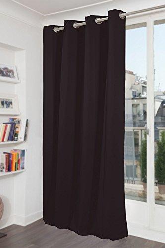 Preisvergleich Produktbild IDEENREICH 2307 Verdunkelungsvorhang, Schwarz,145x260 cm