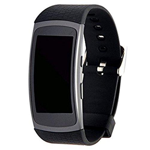 Elespoto Sportivo Strap Smart Watch Banda Sostituzione Cinturino Braccialetto per Samsung Galaxy Gear Fit 2 SM-R360 SmartWatch Bracciale (Black)