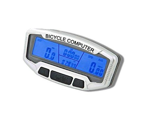 Multifunktionaler Fahrradcomputer - 28 Funktionen - breites LCD-Display - Hintergrundbeleuchtung