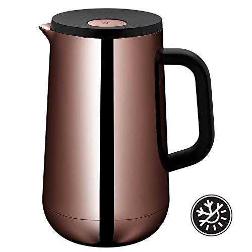 WMF Isolierkanne Thermoskanne Impulse Vintage Kupfer, 1,0 l, für Tee oder Kaffee Druckverschluss hält Getränke 24h kalt und warm