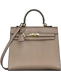 0798de5118704 GRAZIA Handgefertigte Tasche aus hochwertigem italienischen Leder eleganten Handtaschen  Damen Hobo Henkeltaschen…