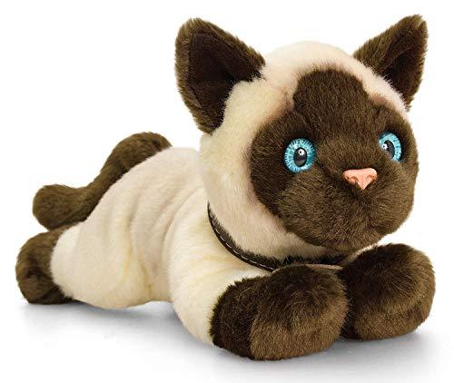 Saino Plüschtier Katze Siamkatze beige, Signature Kittens Kuscheltier 30 cm