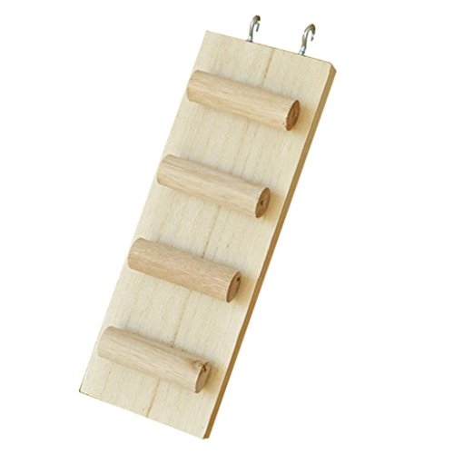 aus Holz, für Hamster, Leiter, 3Sprossen, vier Stile | für syrische Goldhamster, Rennmaus, Ratte, Maus, Chinchilla, Meerschweinchen, Eichhörnchen, kleine Tiere, Käfig-Spielzeug -
