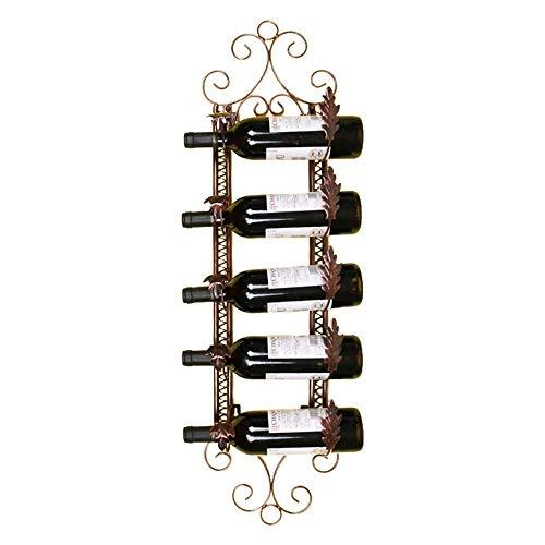 Weinregal Wandregal Speicherorganisator Rack | Home Küche D \u0026 Eacute; COR | Metall Lagerregal | Creative 5 Weinflasche Display Rack | Wand Weinregal | Rustikale Weinflaschenhalter - (Gr -