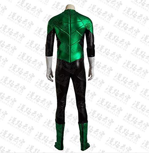 Adegk Grüner Mann Cosplay Kostüm Kostüm Halloween Kleidung Requisiten Body Kostüm Männer Kostümparty,Onesies-L (Green Lantern-halloween-kostüm Für Erwachsene)