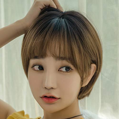 Perücke weibliche kurze Kopf runde Gesicht Bobo Set koreanische Welle stattliche schöne Gesicht flauschige Qi süße süße Netz rot