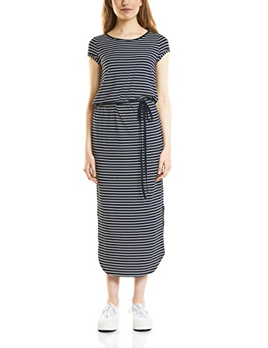 Street One Damen Kleid 140654 Mehrfarbig (Deep Blue 21238) 38 (Gestreifte Maxi Kleider)