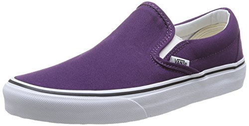 Vans U Classic, Herren Sneaker  Violett Violet (Plum Purple/True White) 38 (Schuhe Loafer Signature)