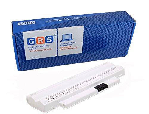 GRS Notebook Akku für DELL Inspiron Mini 10, 1012, ersetzt: 312-0966, 312-0967, 8PY7N, A3580082, A3582339, CMP3D, G9PX2, KMP21, MGW5K, XCKN7, 312-1086, Laptop Batterie 4400mAh, 11.1V (10 Akku Dell-mini)