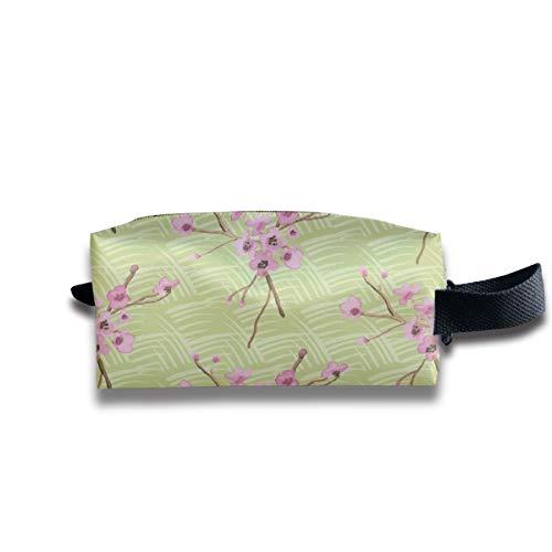 ue Quilt Kirschblüte Grün Rosa Braun Gras Floral Tree Miss Chiff Designs_2167 Tragbare Reise Make-up Kosmetiktaschen Organizer Multifunktions Tasche Taschen für Unisex ()