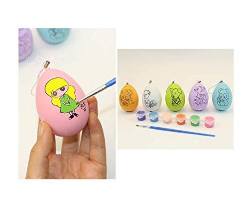 dgemalte Eierschalen-Dekoration, Graffiti-Plastikeier der Kinder, DIY-Ei-kreative Malerei-Spielwaren ()