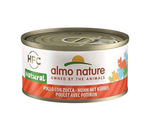 Almo Nature HFC Natural Katzenfutter - Huhn mit Kürbis 24x70 g