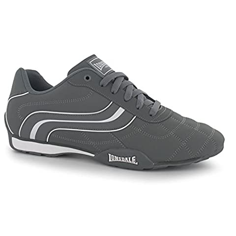 Lonsdale Camden Trainers Mens Grey/White Casual Sneakers Shoes Footwear (UK8.5)