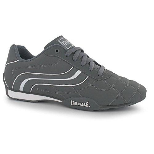 LONSDALE Baskets pour hommes Baskets Chaussures De Formateurs Sports et loisirs Neuf Camden gris/ Blanc