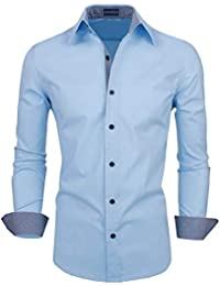 Zombom Men's Cotton Polyester Blend Regular Fit Shirt